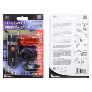 Cyklosvětlo Compass Front & Back 1+1 (5+3LED), Compass