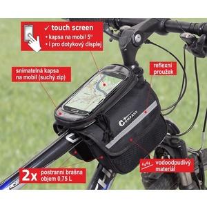 Cyklotaška nad rám obojstranná + PHONE Compass, Compass