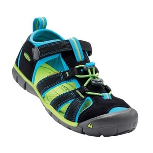 Sandále Keen SEACAMP II CNX JR, black / blue danube, Keen
