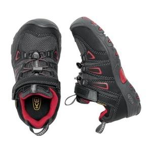 Detské topánky Keen OAKRIDGE LOW WP K, black / tango, Keen