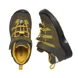 Detské topánky Keen Hikeport WP K, dark olive / citrus, Keen