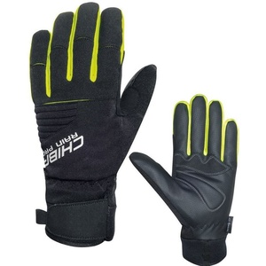 Zimné rukavice Chiba Rain Touch, čierna-reflexná žltá 3120018.1003, Rogelli