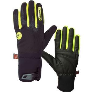 Zimné rukavice Chiba Dry Star Superlight, čierna-reflexná žltá, Rogelli