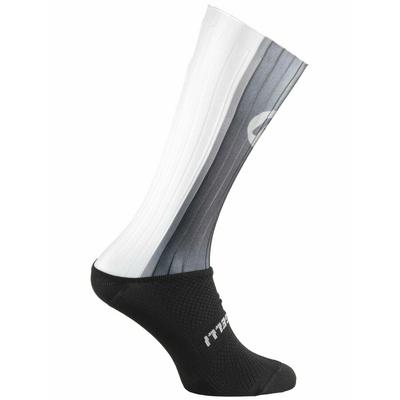 aerodynamické funkčnou ponožky Rogelli AERO, čierno-šedá-biele 007.003, Rogelli