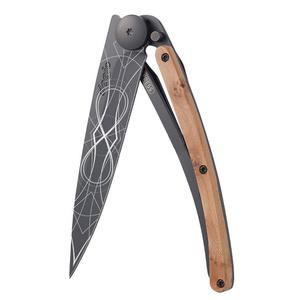 Vreckový nôž Deejo 1GB126 Tattoo infinite, black, 37g, exotický jalovec, Deejo