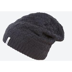 Pletená Merino čiapka Kama A123 110 čierna