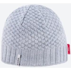 Pletená Merino čiapka Kama AW63 109 svetlo sivá, Kama