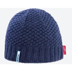 Pletená Merino čiapka Kama AW63 108 tmavo modrá, Kama