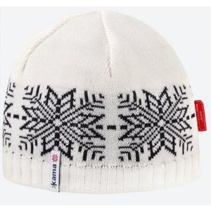 Pletená Merino čiapka Kama AW64 101 prírodne biela, Kama