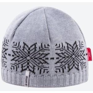 Pletená Merino čiapka Kama AW64 109 svetlo sivá, Kama