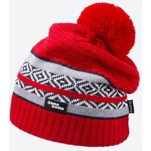 Pletená Merino čiapka Kama KW06 104 červená, Kama