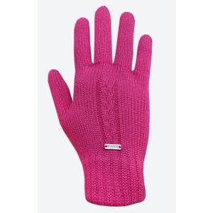 Pletené Merino rukavice Kama R103 114 ružová, Kama