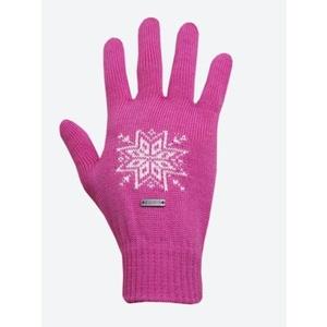 Pletené Merino rukavice Kama R104 114 ružová, Kama