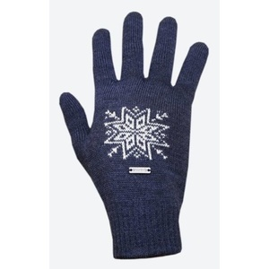 Pletené Merino rukavice Kama R104 108 tmavo modrá, Kama