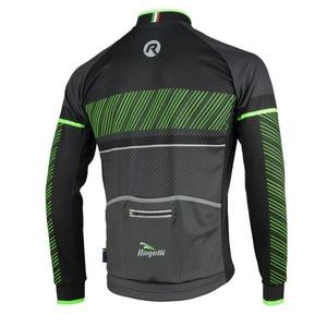 Cyklodres Rogelli RITMO s dlhým rukávom, 001.256. čierno-zelený, Rogelli