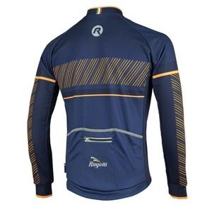 Cyklodres Rogelli RITMO s dlhým rukávom, 001.257. modro-oranžový, Rogelli