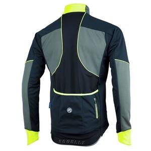 Pánska softshellová bunda Rogelli TRANI 4.0, 003.121. čierno-reflexná žltá, Rogelli