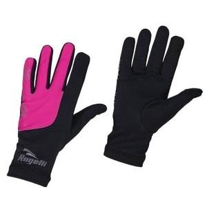 Dámske bežecké zimný rukavice Rogelli Touch, 890.004. čierne-reflexná ružové, Rogelli