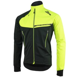 Pánska softshellová bunda Rogelli Contento, 003.140 čierna-reflexná žltá, Rogelli