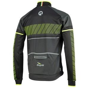 Pánska softshellová bunda Rogelli Ritmo, 003.255. čierno-reflexná žltá, Rogelli