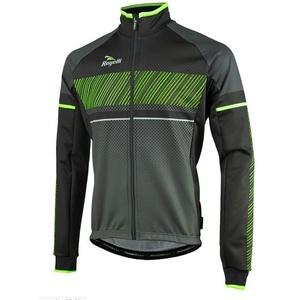 Pánska softshellová bunda Rogelli Ritmo, 003.256. čierno-zelená, Rogelli