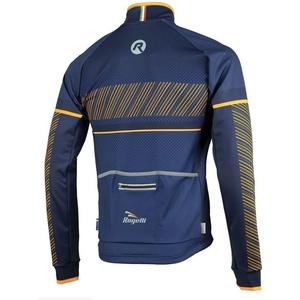 Pánska softshellová bunda Rogelli Ritmo, 003.257. modro-oranžová, Rogelli
