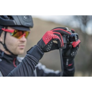 Pánske cyklistické rukavice Rogelli Storm, 006.126. čierne-červené, Rogelli