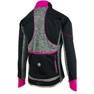 Dámska cyklistická bunda Rogelli Carlyn 2.0, 010.306. čierno-šedo-ružová, Rogelli