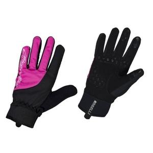 Dámske cyklistické rukavice Rogelli Storm, 010.656. čierno-ružové, Rogelli
