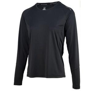Dámske športové funkčnou triko Rogelli BASIC s dlhým rukávom, 801.254. čierne, Rogelli