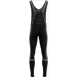 Pánske elastické zimný nohavice Silvini RUBENZA MP1317 black red, Silvini