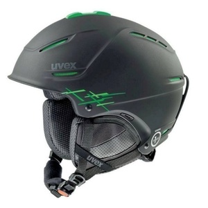 Lyžiarska helma UVEX P1US PRO, black-green mat (S566156270*), Uvex