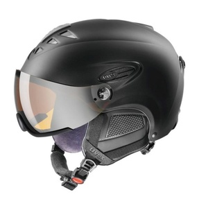 Lyžiarska helma UVEX HLMT 300 VISOR, black mat (S566162220*), Uvex