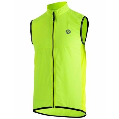 Cyklistická vesta Rogelli MOVE s priedušnými chrbtom, reflexná žltá 004.202