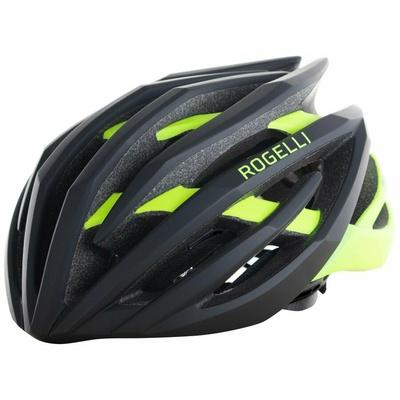 Ultraľahká cyklo helma Rogelli tiecť, čierno-reflexná žltá 009.812, Rogelli