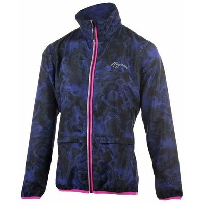Dámska bežecká vetrovka Rogelli COSMIC, čierno-modro-ružová 840.866, Rogelli