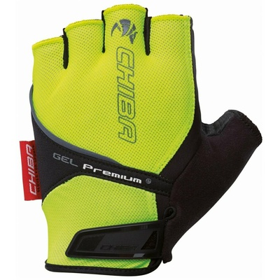 Cyklo rukavice Chiba GEL PREMIUM s gélovú dlaní, reflexná žlté 30117.03-1, Chiba
