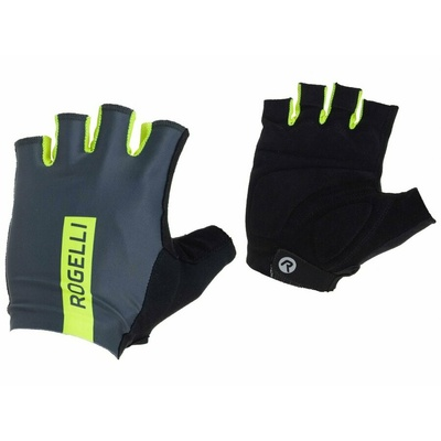 Cyklistické rukavice Rogelli PACE, šedo-reflexná žlté 006.382, Rogelli