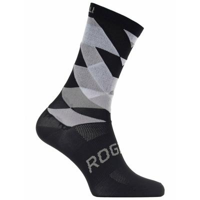 Dizajnové funkčnou ponožky Rogelli SCALE 14, čierno-biele 007.151, Rogelli