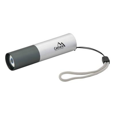 Svietidlo vreckový LED Cattara 120lm ZOOM nabíjací SILVER, Cattara