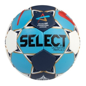 Hádzanárska lopta Select HB Ultimate Replica Champions League Men bielo modrá, Select
