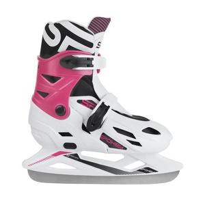 Zimné korčule Spokey RIPPLE bielo-ružové regulovateľné, Spokey