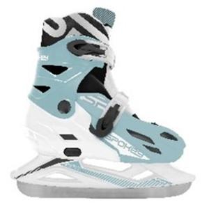 Zimné korčule Spokey RIPPLE bielo-modré regulovateľné, Spokey