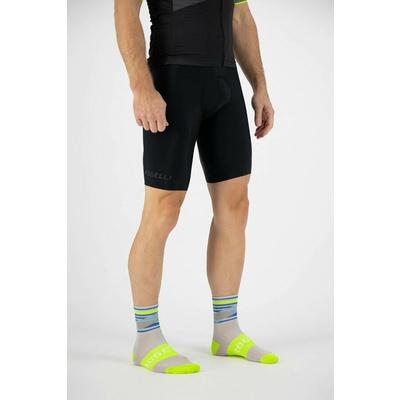 Dizajnové funkčnou ponožky Rogelli STRIPE, šedo-modro-reflexná žlté 007.204, Rogelli