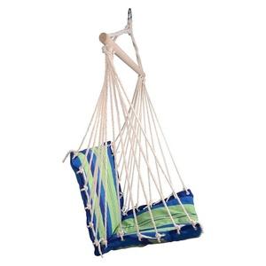 Hojdací sieť k sedenie Cattara Hammock Chair modro-zelená, Cattara