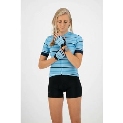 Dámske rukavice na kolo Rogelli STRIPE, svetlo modro-modré 010.620, Rogelli