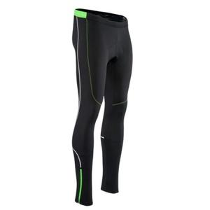 Pánske elastické zateplené nohavice Silvini RUBENZA MP1319 black green, Silvini