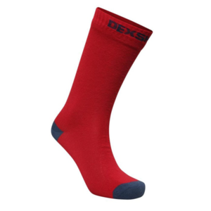 Ponožky DexShell Ultra Thin Crew Socks Red / Navy, DexShell