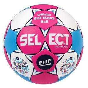 Hádzanárska lopta Select HB Ultimate EC Official France 2018 ružovo biela, Select