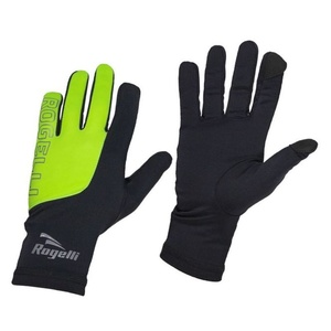 Pánske bežecké zimný rukavice Rogelli Touch, 890.002. čierno-reflexná žlté, Rogelli